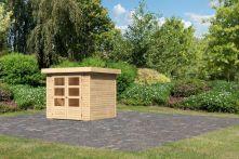 Karibu Woodfeeling Gartenhaus Askola 2 natur 213x217x211 cm