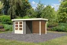 Karibu Woodfeeling Gartenhaus Askola 2 terragrau 213x217x211 cm