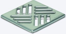 KESSEL-Schlitzrost 95x95 mm aus Edst. 1.4301, Klasse K3 | Nr.: 27151