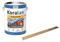 Koralan Außenfarbe Weiß inkl. Rührholz