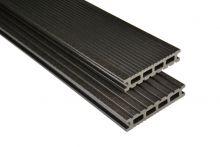 Kovalex WPC-Terrassendiele Exklusiv Anthrazit mattiert - 145x26 mm   Längen-Zuschnitt