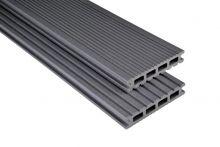 Kovalex WPC-Terrassendiele Exklusiv Steingrau mattiert -145x26 mm   Längen-Zuschnitt