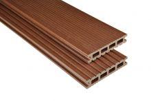 Kovalex WPC-Terrassendiele Exklusiv Braun mattiert - 145x26 mm | Längen-Zuschnitt