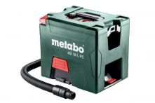 Metabo Akku-Sauger AS 18 L PC (602021000), mit manueller Filterreinigung, Karton, 18V 2x Li-Ion + ASC 30-36 V