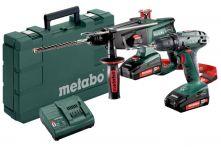 Metabo Akkuset Combo Set 2.3.2 18 V (685083000) BS 18 + KHA 18 LTX Kunststoffkoffer