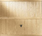 Novoferm Holz Komfort Schwingtor Nürnberg senkrechte Sicke mit aufgesetzten waagerechten Profilleisten
