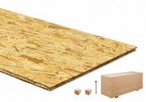 100 qm OSB Platten Verlegeplatten mit N+F incl. Schrauben (60 Platten)