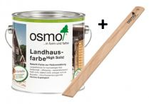 Osmo Landhausfarbe Weiß incl. Rührholz