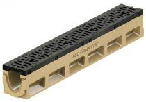 ACO PowerDrain V75/100 P Rinnenkörper - 1 m lang ohne Sohlengefälle