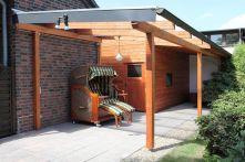 Protektor Nr.: 85889 Dachrinnen-Set für Terassenüberdachung NW 100 dunkelbraun