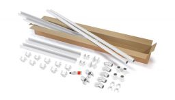 Protektor Nr.: 85912 Kastenrinnen-Set Z für Gartenhäuser NW 68 BA weiß