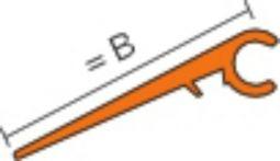 Schlüter RENO AE VB Übergangsschenkel 2,5 m variabel