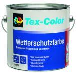 Tex-Color TC6102 Wetterschutzfarbe 0414 weiß, 3 x 750 ml Dose