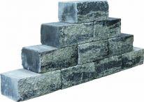 teamline Betonmauerstein SKADI Gris Noir 35x20x15 cm - grau-anthrazit