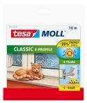 tesamoll®  E-Profil weiß, für Spalten von 1-3,5mm, 10mx9mmx4mm