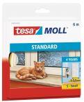 tesamoll® Standard I-Profil Schaumstoff weiß, für Spalten von 1-3,5mm, 6mx9mmx4mm