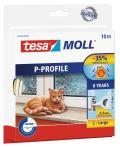 tesamoll®  P-Profil weiß, für Spalten von 2-5mm, 10mx9mmx5,5mm