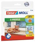 tesamoll®  E-Profil weiß, für Spaltenm von 1-3,5mm, 6mx9mmx4mm