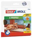 tesamoll®  E-Profil braun, für Spalten von 1-3,5mm, 6mx9mmx4mm