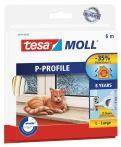 tesamoll®  P-Profil weiß, für Spalten von 2-5mm, 6mx9mmx5,5mm