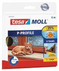 tesamoll®  P-Profil braun, für Spalten von 2-5mm, 6mx9mmx5,5mm