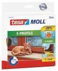 tesamoll®  E-Profil braun, für Spalten von 1-3,5mm, 10mx9mmx4mm