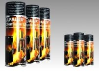 Ulfalux Ofenfarbe - 1200°  schwarz perlmatt - 400 ml Spraydose