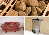 Weka Saunaofenset 9 - 3,6 kW Kompakt 230 V mit Ofenanschlußkabel