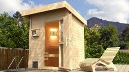 Weka Saunahaus Naantali mit Holztür 187x187 cm mit Bio Ofen