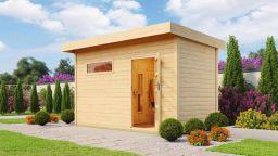 Weka Saunahaus Farsund mit Holztür Sauna 179x179/Haus 415x220 cm