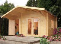 Wolff Finnhaus Gartenhaus Caro 34 Modern XL - 450x300 cm